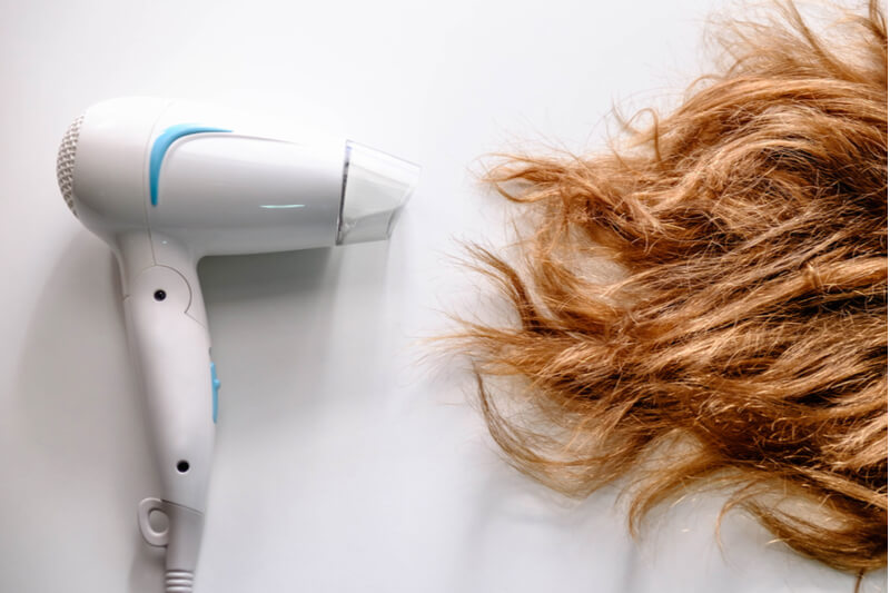 avoid blow drying hair ends